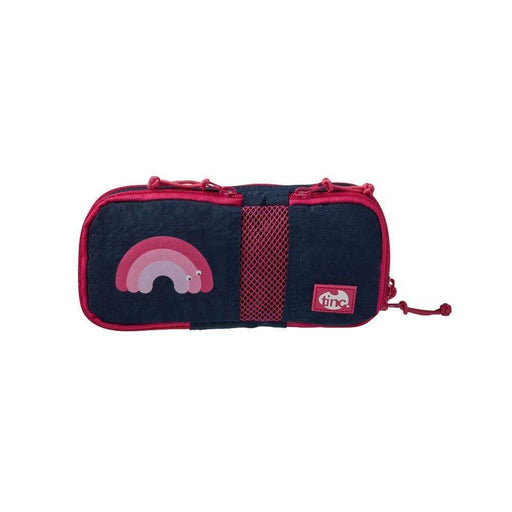 Compartment Pencil Case - Navy/Pink - Tinc