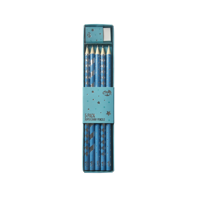 Metallic Set of 5 Pencils - Tinc