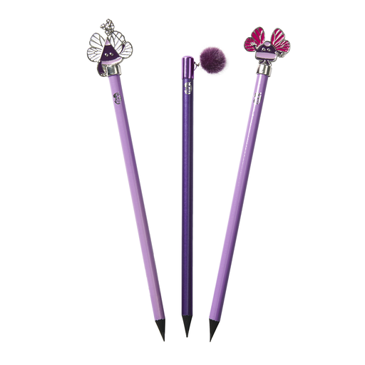3 Topper Pencils - Purple - Tinc