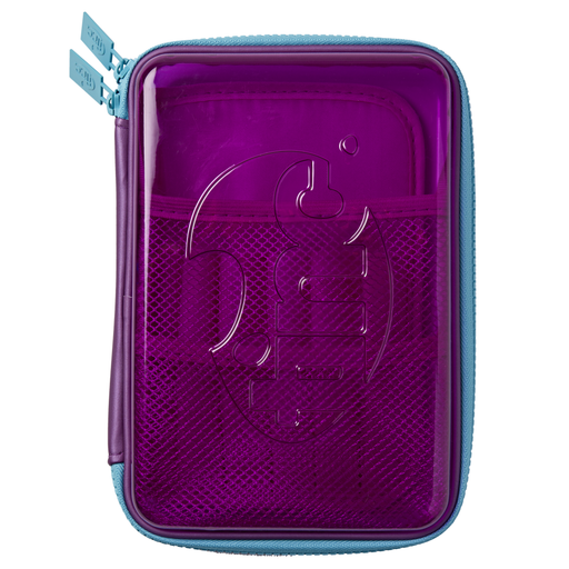 Transparent Hardtop Pencil Case - Purple - Tinc
