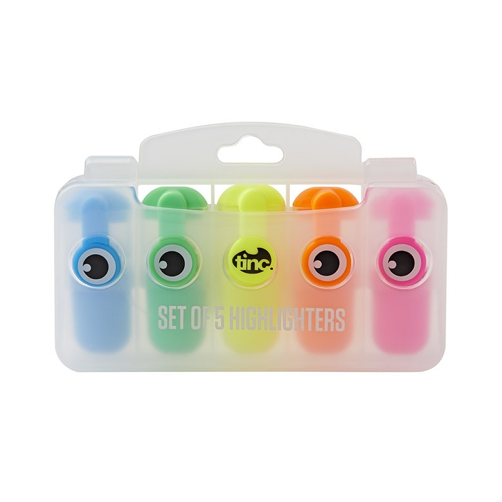 Set of 5 Mini Highlighters - Tinc