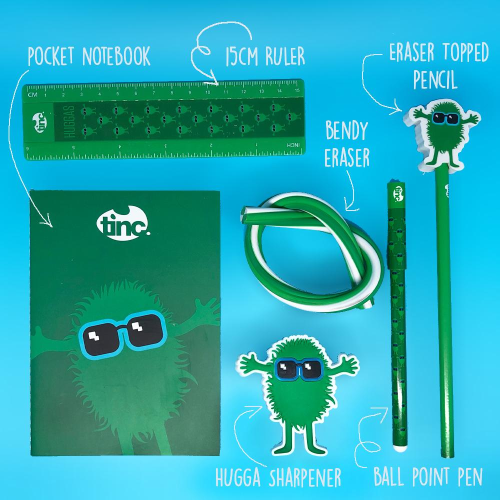 Green Tribal Stationery Pack - Tinc