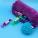 Fluffy Pencil Case - Purple - Tinc