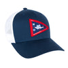 Front view of the MTKO Burgee Hat in navy color