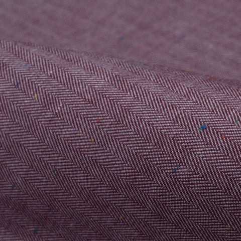 Red Color Spec Herringbone Flannel