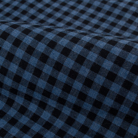 Blue and Black Gingham Flannel