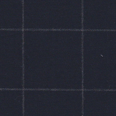 Navy and Grey Windowpane Flannel