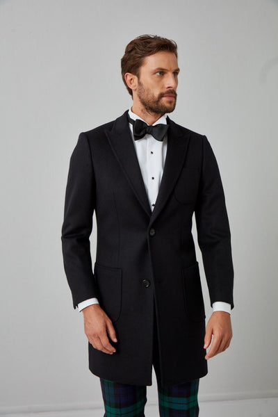 Solid Wool Overcoat