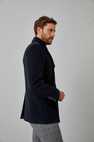 Solid Wool Peacoat