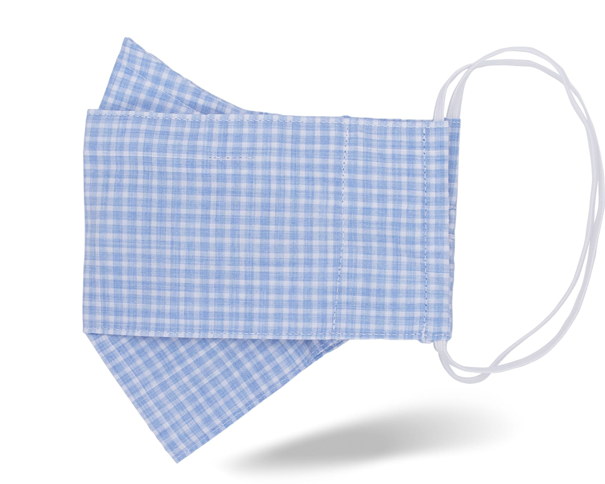 Sky Blue Check 3D Mask