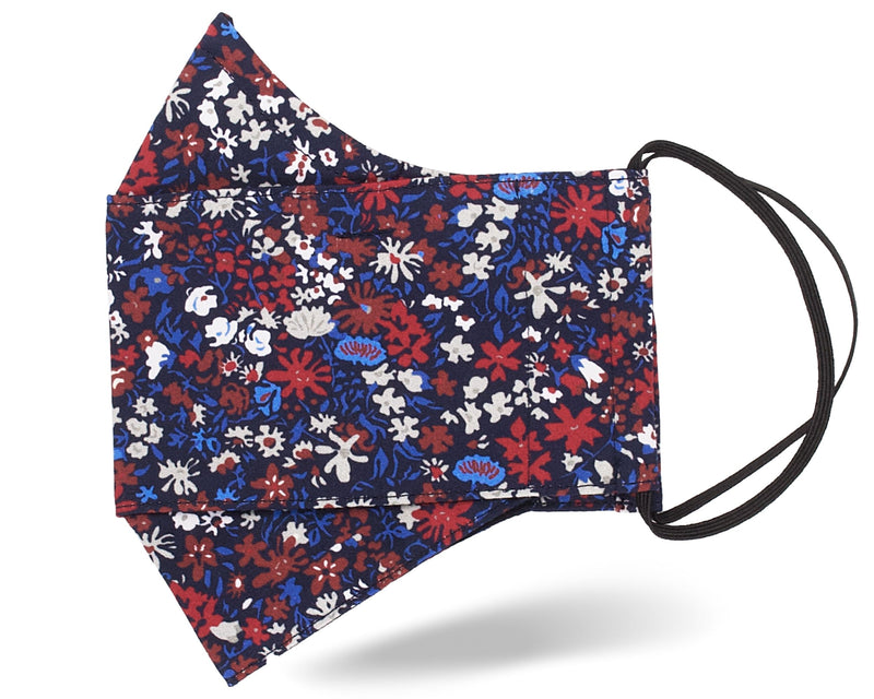 Red/Blue Wildflowers 3D Mask