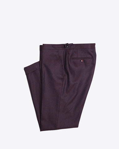 Burgundy Herringbone Dress Pants
