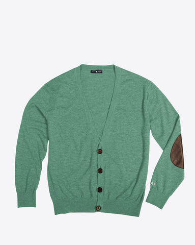 Green Cashmere Cardigan