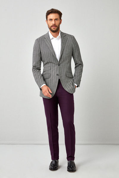 English Dark Purple Flannel