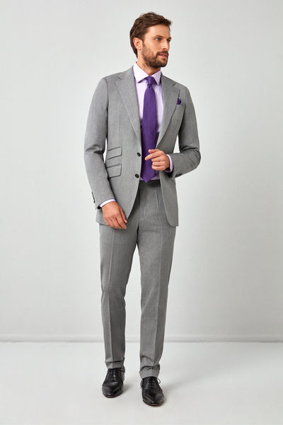 English Light Gray Herringbone