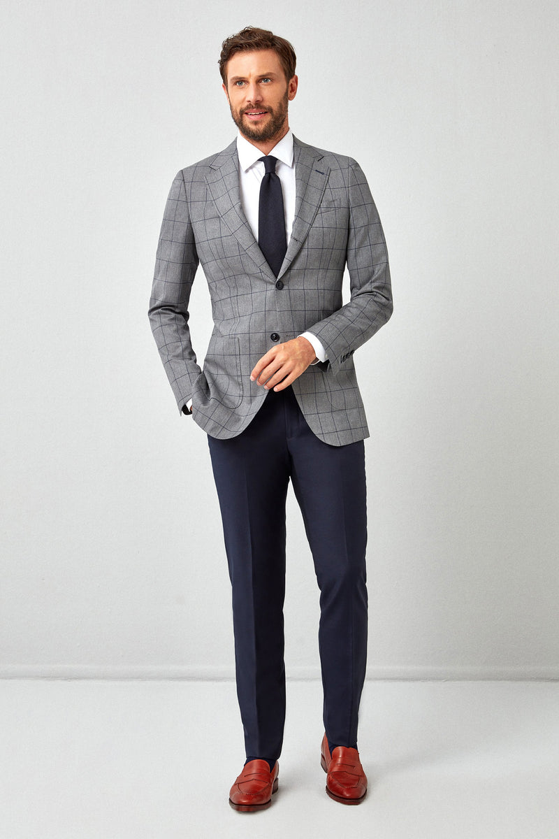 Essentials Navy Plain Weave