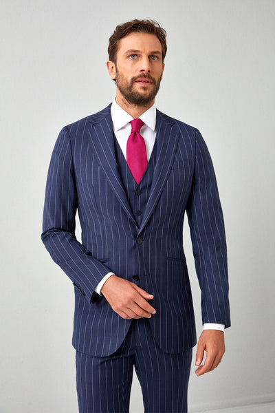 Essentials Super 130s Pinstripe
