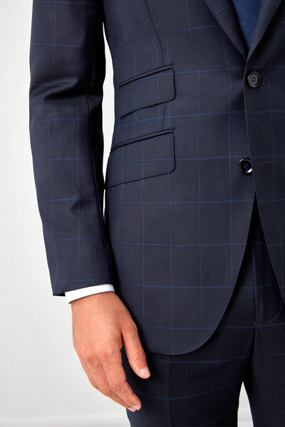 Essentials Super 130s Windowpane