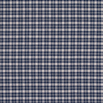 Navy and White Check Melange Flannel
