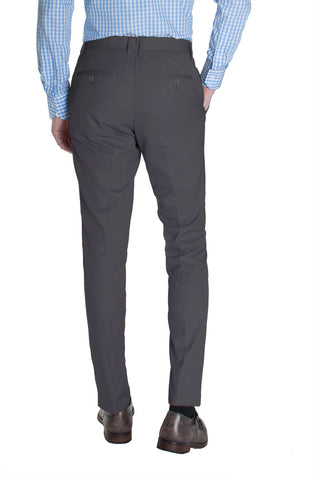 Gray Cotton Dress Pants