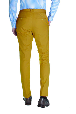 Golden Khaki Cotton Dress Pants