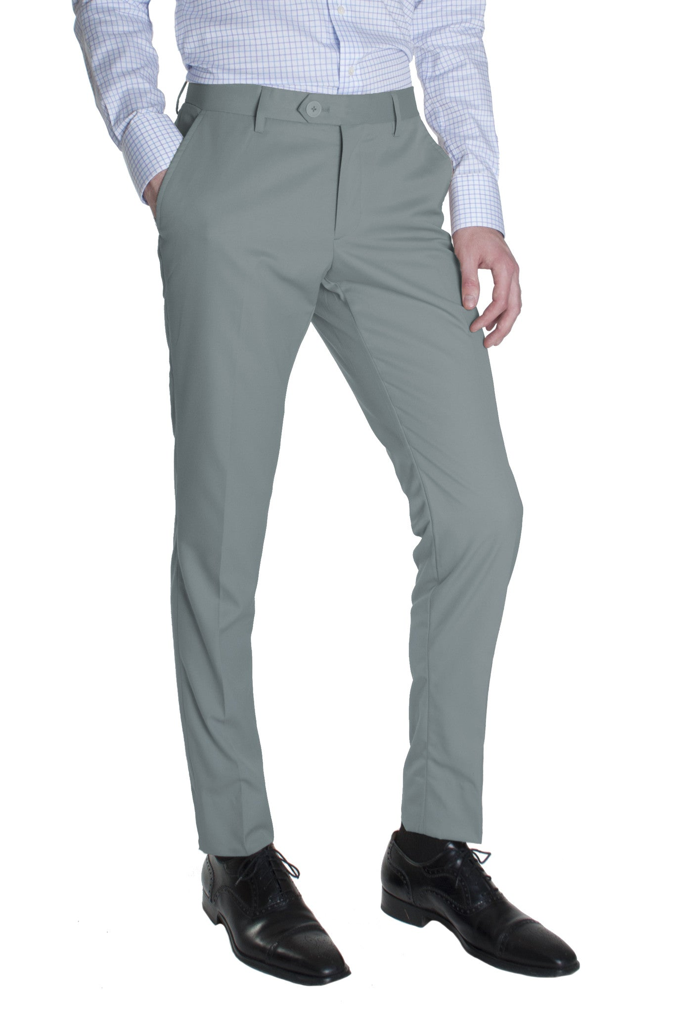 09af8b67d32 Light Grey Cotton Dress Pants