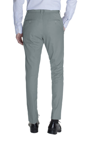 Light Grey Cotton Dress Pants