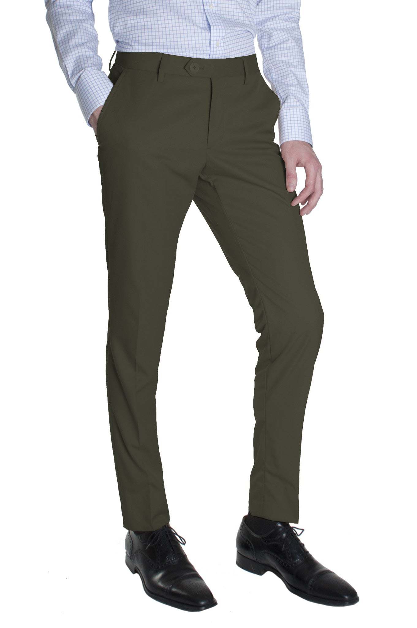 olive green cotton dress pants  acustom apparel