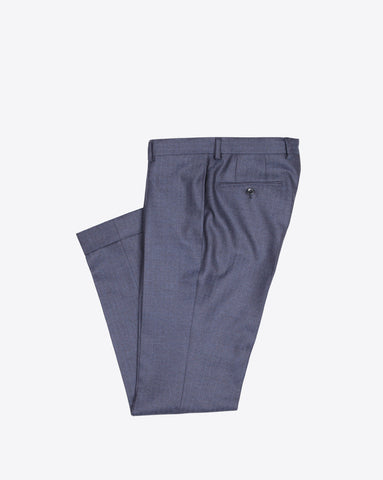 Navy Herringbone Dress Pants