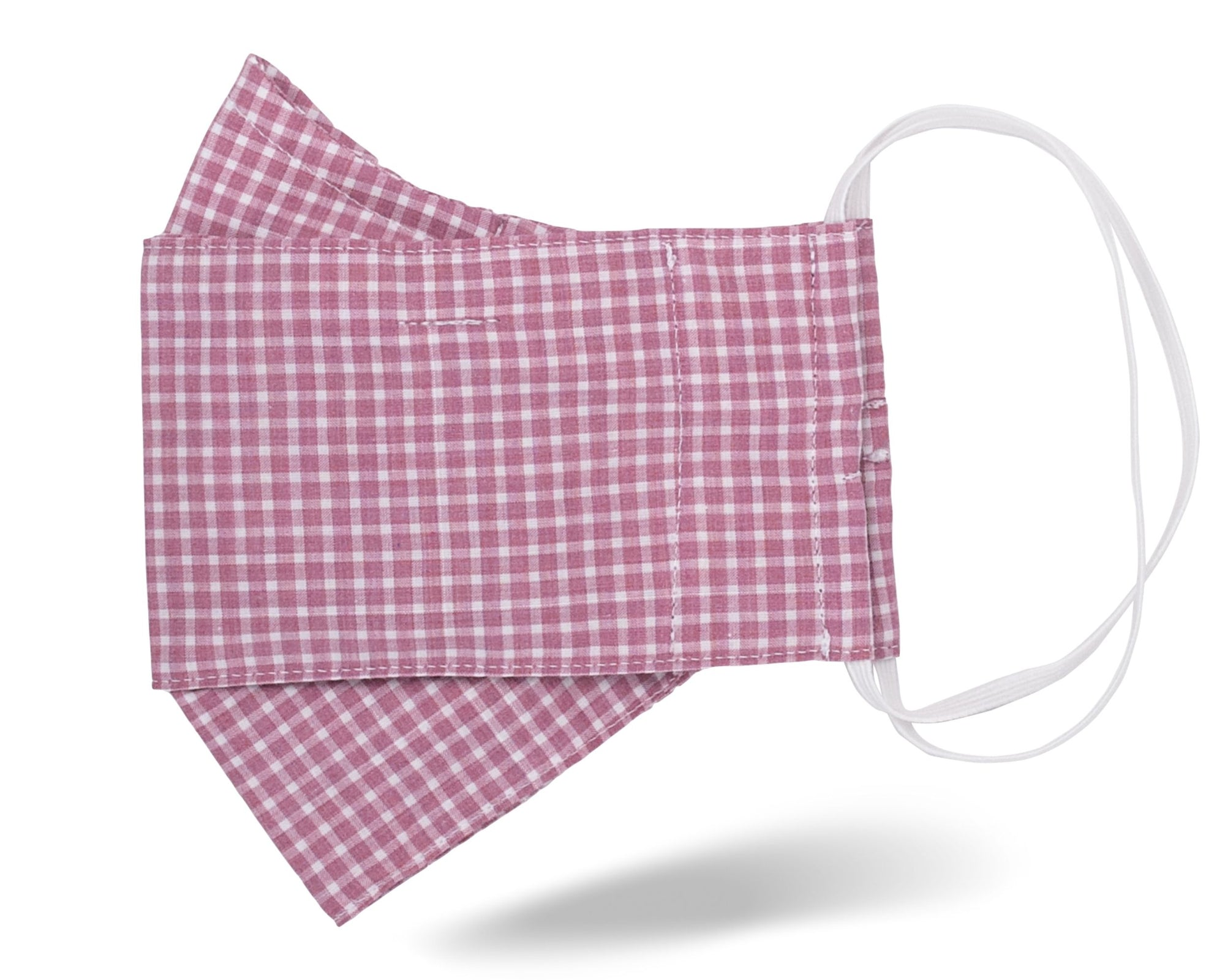 Mulberry Pink Check 3D Mask