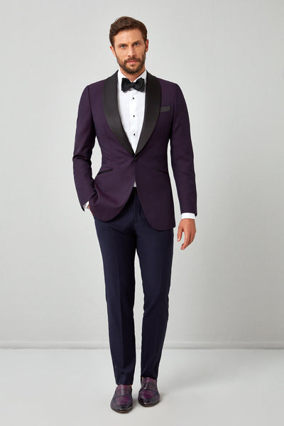 Prominant Textured Weave Dinner Jacket