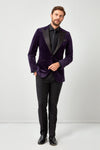 Velvet Dinner Jacket with Satin Lapel