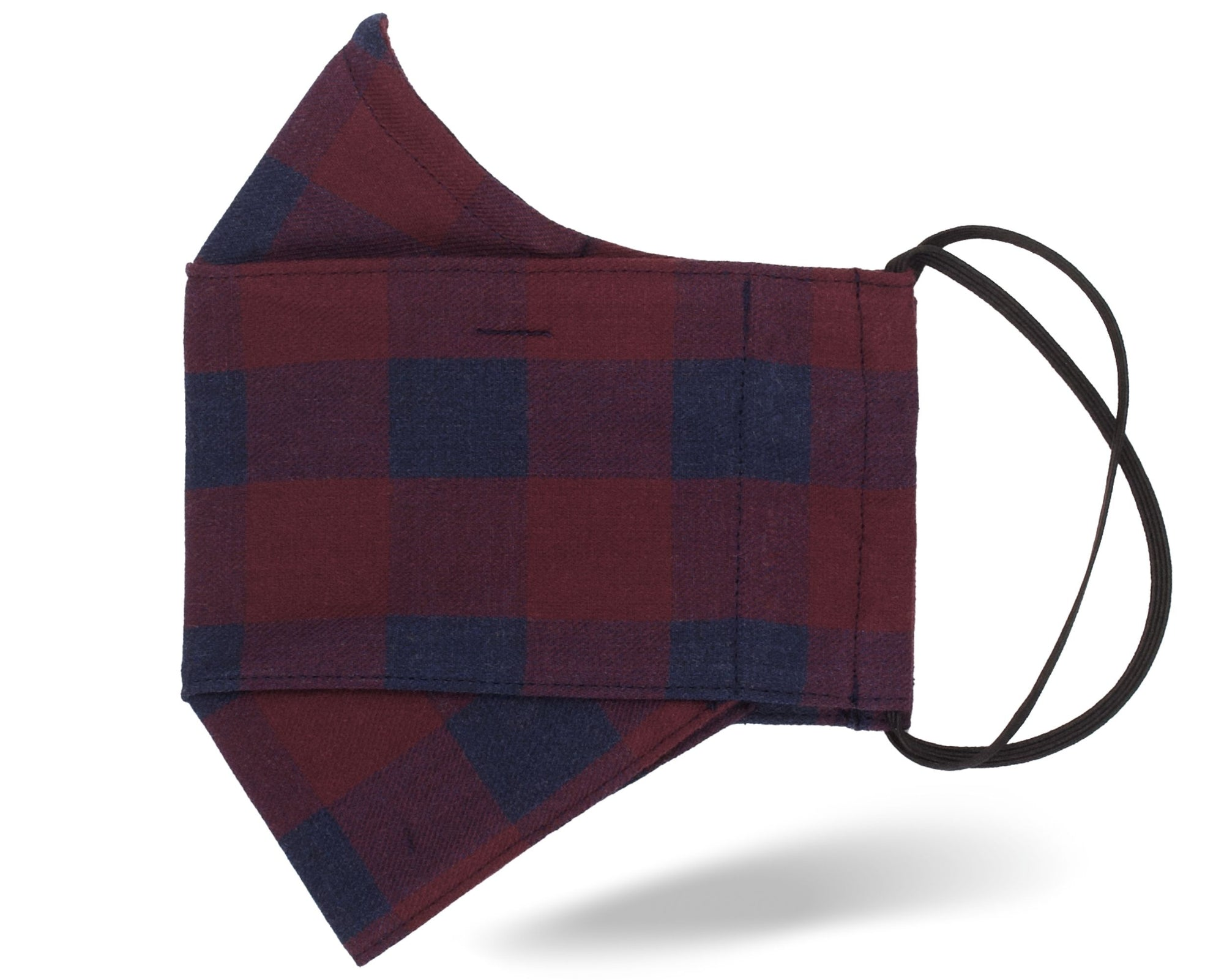 Red Buffalo Check 3D Mask