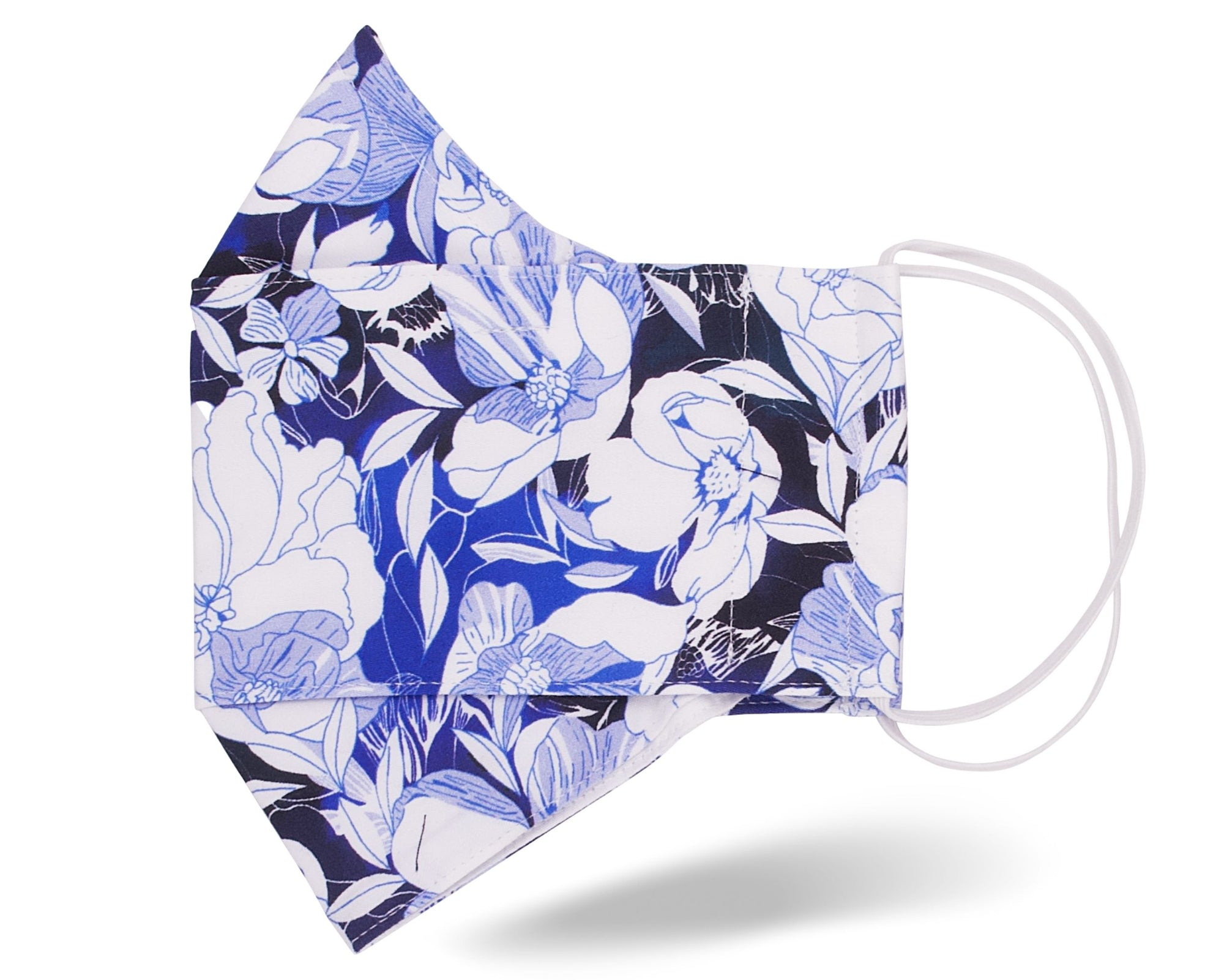 Blue Hawaiian Floral 3D Mask