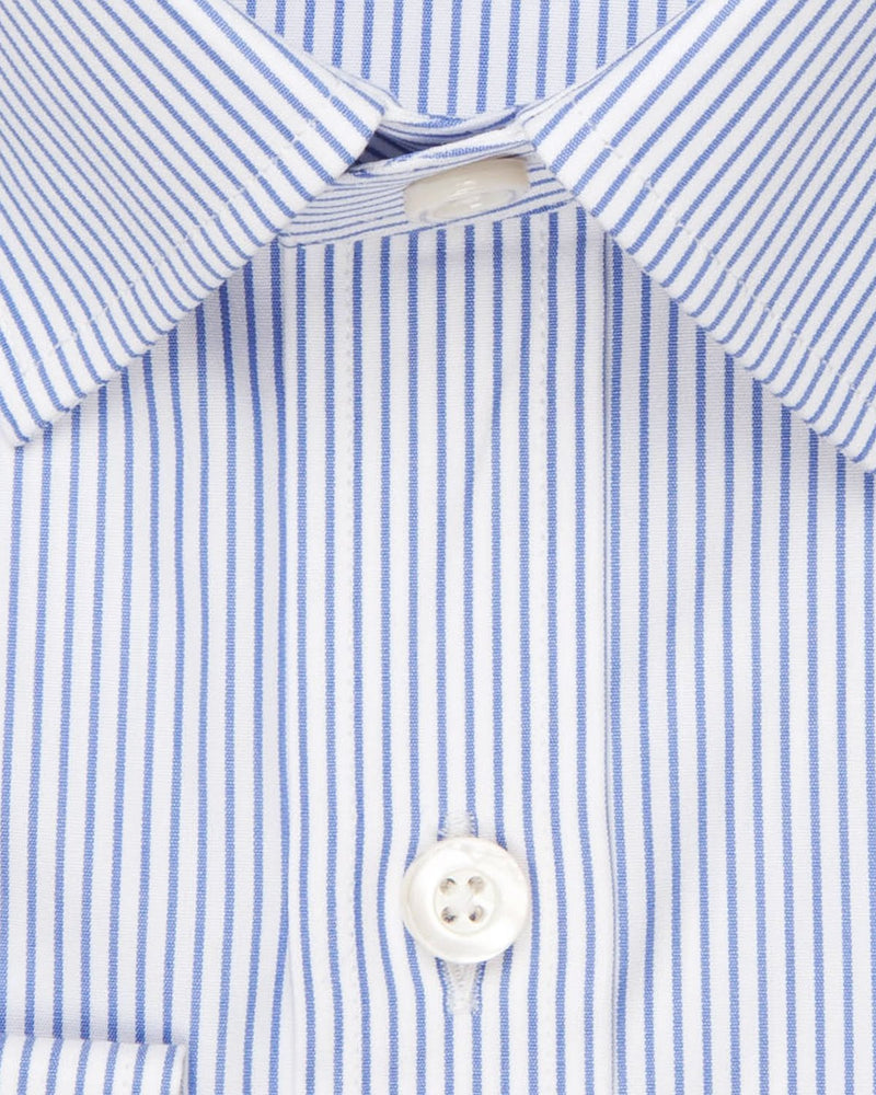 Delphi 120 Poplin Pencil Stripe