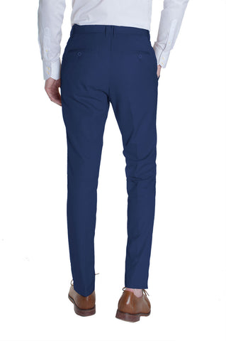 Navy Cotton Dress Pants