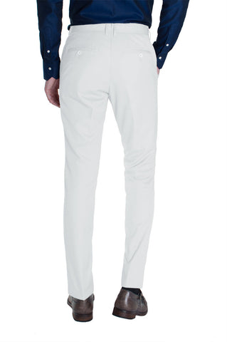 White Cotton Dress Pants