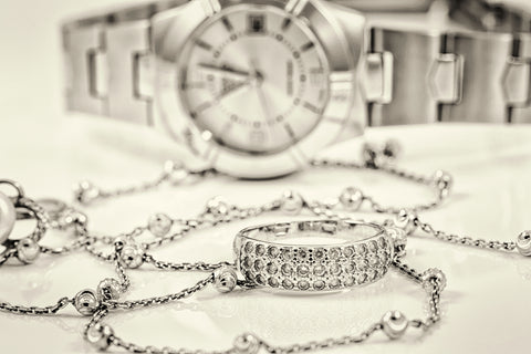watch, ring & necklace
