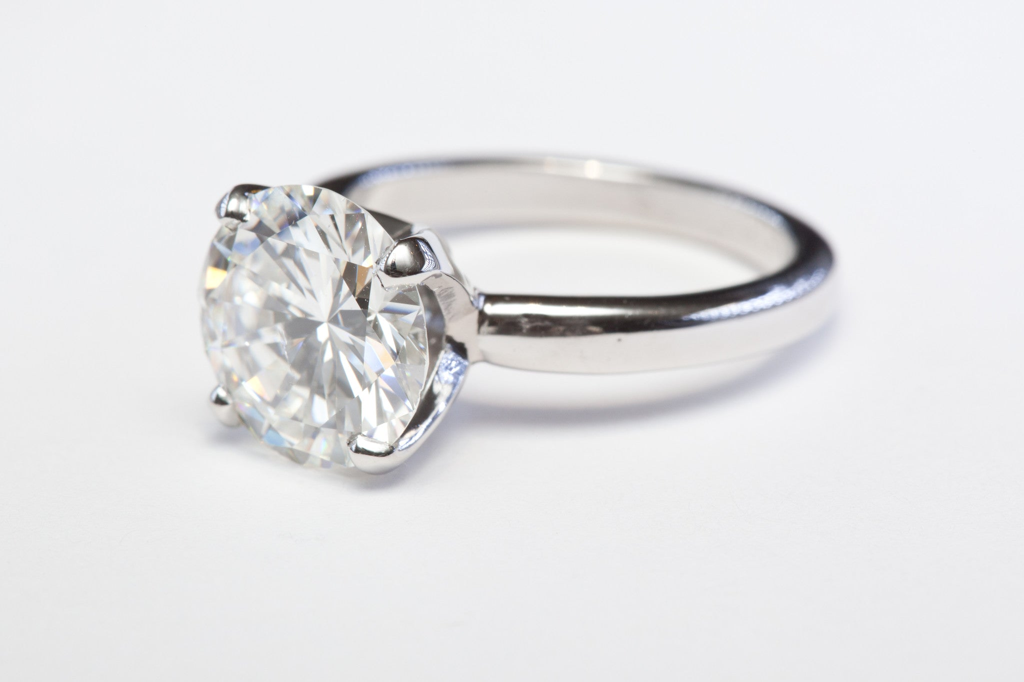 Side view 4.09 Solitaire Diamond Ring