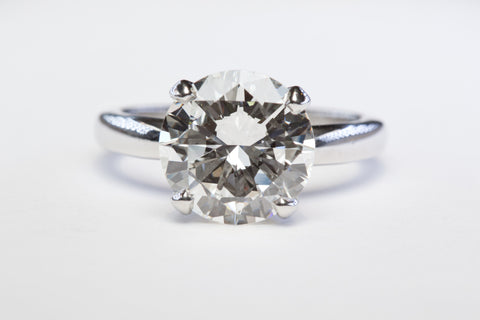Top View 4.09 Solitaire Diamond Ring