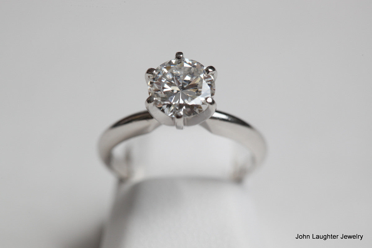 1.42 Carat Ideal Cut Engagment Ring F VVS1