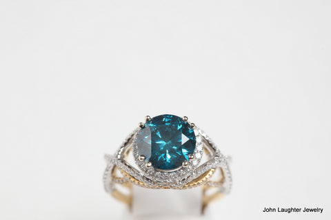 3.92 Carat Blue Diamond Ring