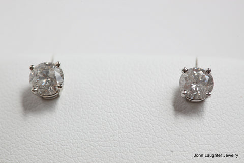 Diamond Stud Earrings 1 Carat