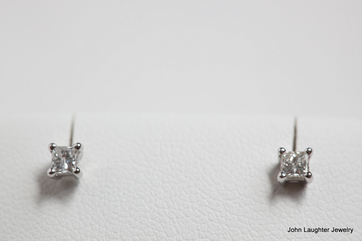 half carat actual diamond size earrings caymancode