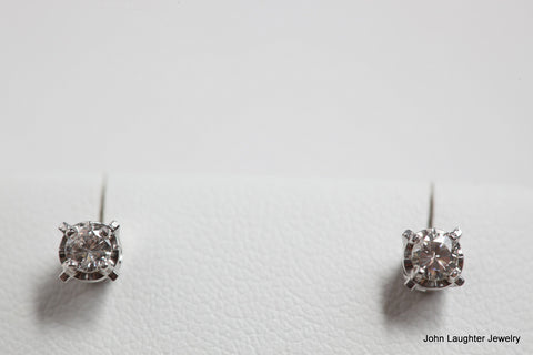 Diamond Stud Earrings 1/5th Carat