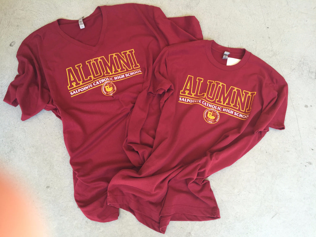 Next Level Alumni maroon tee