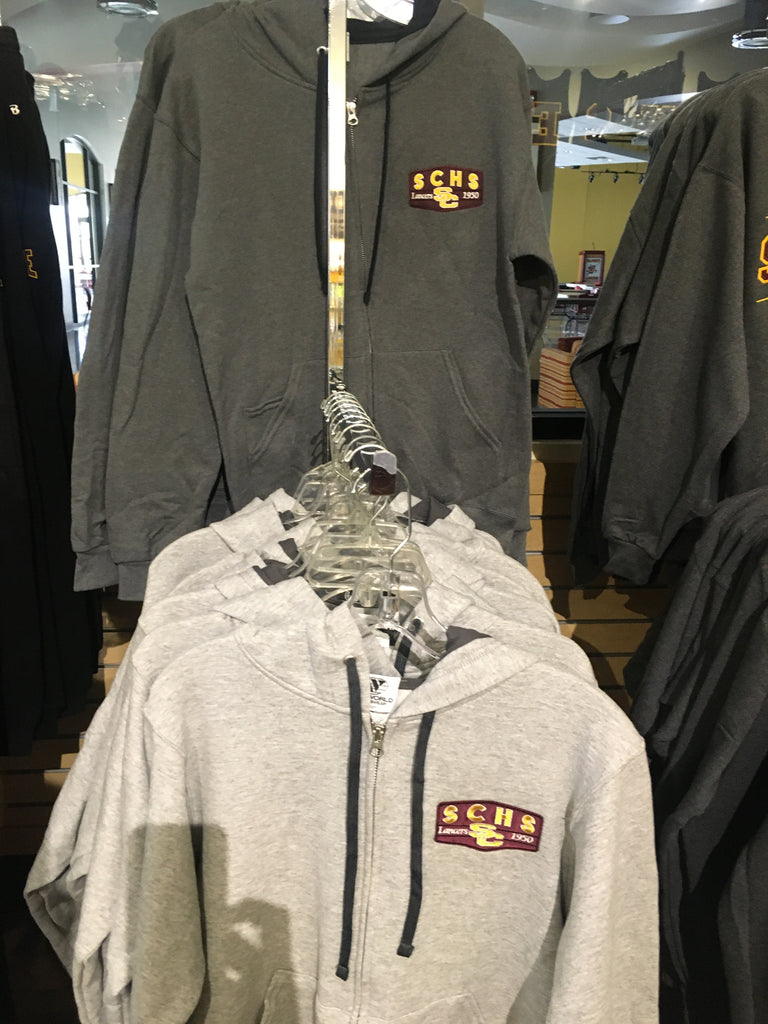 WideWorld Zip hood graphite or oxford grey (patch)