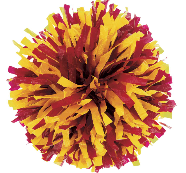Maroon and Gold Pom