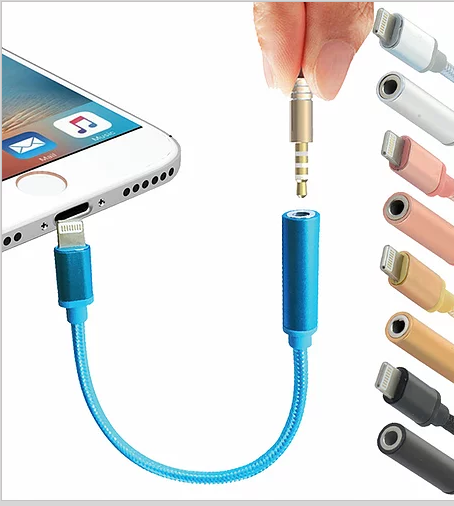 Lightning to 3.5mm Headphone Jack Adapter Cable For Apple iPhone 7 / 7 Plus