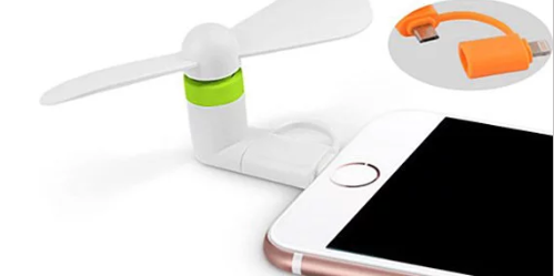 Portable Electric Mini Fan Cooling For iPhone & Samsung